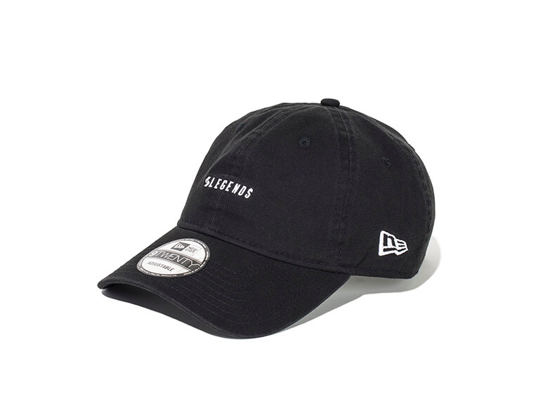 920CS LEGENDS NEW ERA CAP ONE POINT LOGO EMBROIDERY【BLACK】FREE