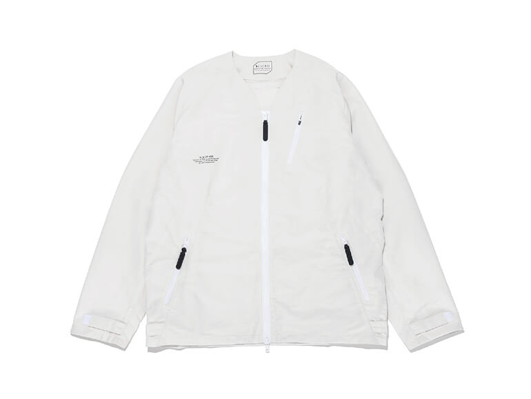 WOVEN NO COLLAR JACKET
