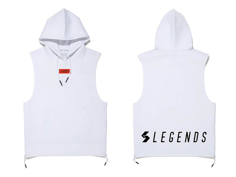 DOUBLE KNIT BACK PRINT TANK HOODIE