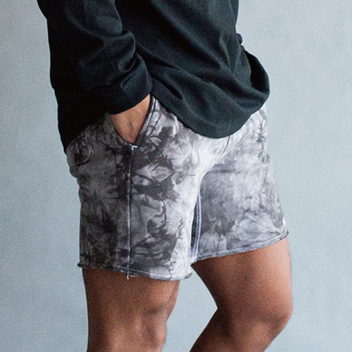 COTTON SWEAT TIE DYE SHORT PANTS