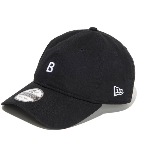 920CS BE LEGEND NEW ERA CAP SMALL B【BLACK】FREE